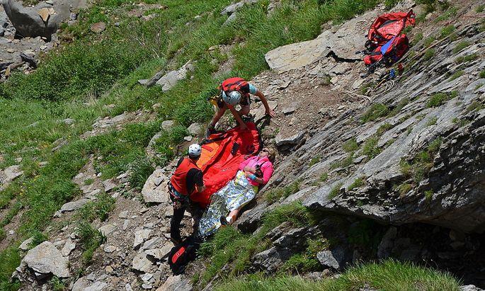 Archivbild: Bergrettungsübung in den Zillertaler Alpen