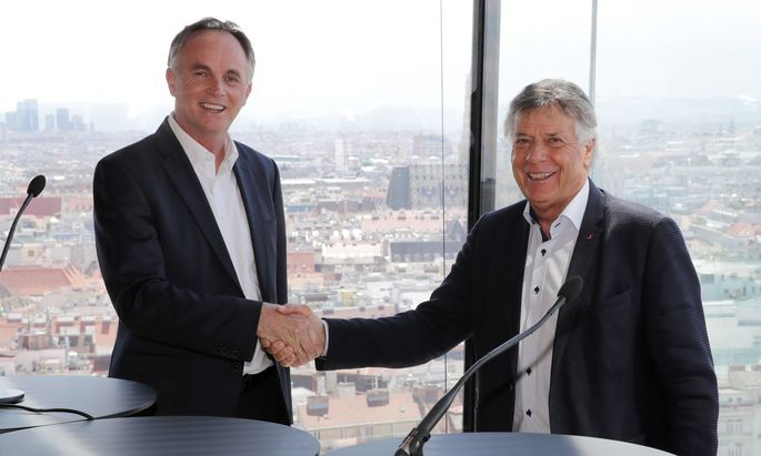 Neuer und alter ÖSV-Präsident: Karl Schmidhofer und Peter Schröcksnadel