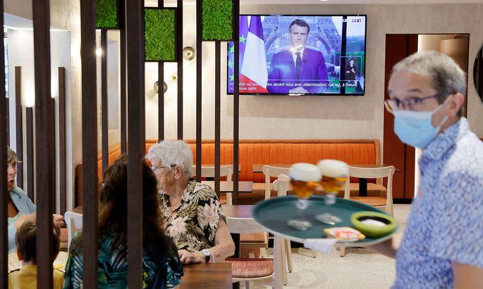 Emmanuel Macron hielt eine TV-Rede.