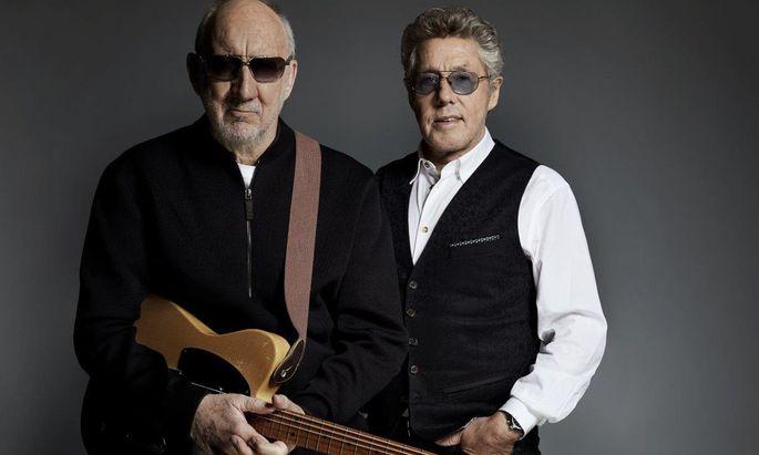 Ein Pop-Querkopf und sein Sänger: Pete Townshend (74, l.) und Roger Daltrey (75).