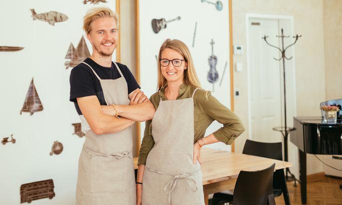 """Valentin Gruber-Kalteis und Anna Haumer sind die """"Kochnomaden""""."""