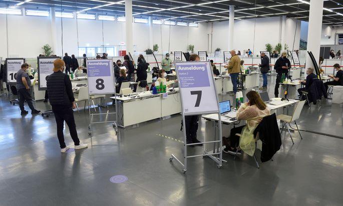 Impfzentrum im Wiener Austria Center