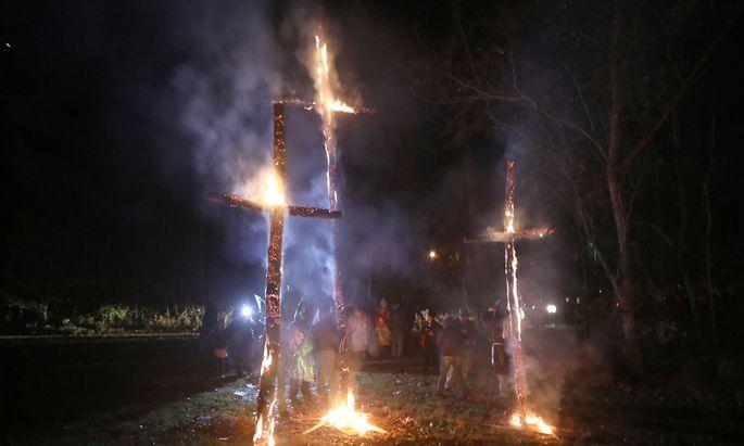 Das Verbrennen von Kreuzen ist in den USA unter bestimmten Bedingungen eine Straftat