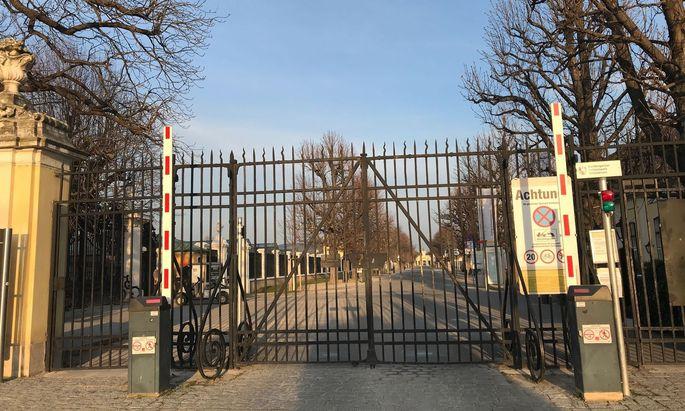 Die Tore des Schlossparks Schönbrunn bleiben geschlossen.