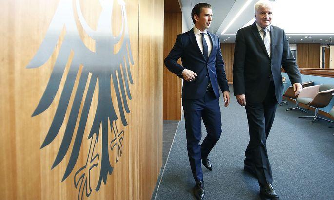 Kanzler Kurz traf in Berlin auch auf Innenminister Horst Seehofer.