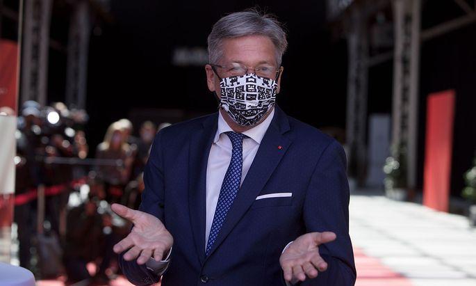 Peter Kaiser vor einer SPÖ-Parteivorstandsitzung im Mai.