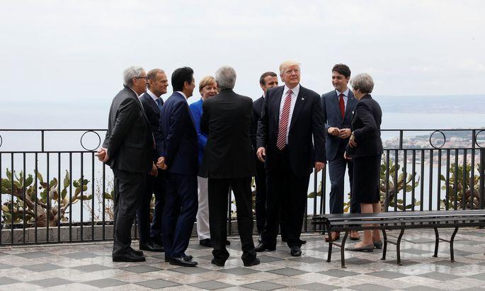 Die Staats- und Regierungschefs beim G7-Gipfel