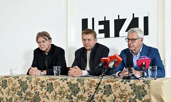 Jetzt-Abgeordneter Alfred Noll, Klubobmänner Wolfgang Zinggl und Bruno Rossmann