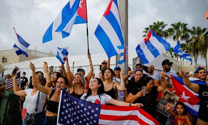 Proteste gegen die Regierung in Kuba