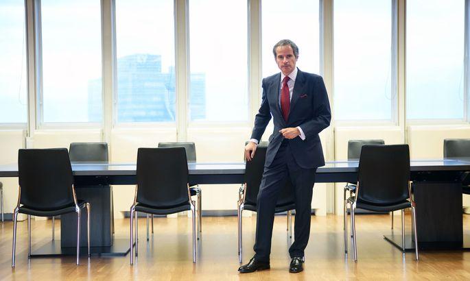Rafael Grossi, Generaldirektor der Internationalen Atomenergiebehörde, in seinem Büro in Wien.