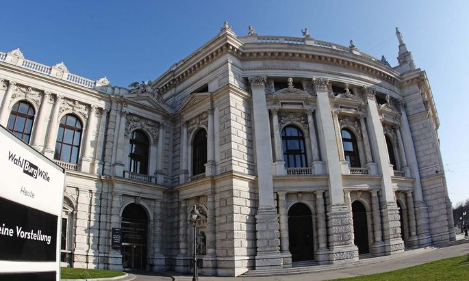 A general view of Austria´s historic Burgtheater theatre in Vienna