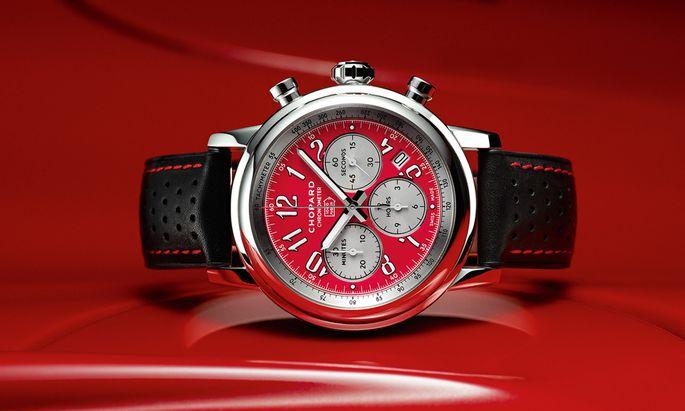 Das Mille-Miglia-Logo findet sich auf dem Zifferblatt unter der 12.