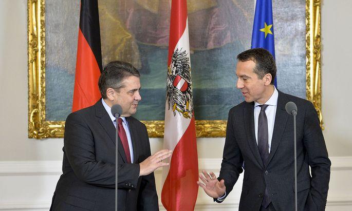 Gabriel bei seinem ersten Arbeitsbesuch in Österreich als Außenminister.