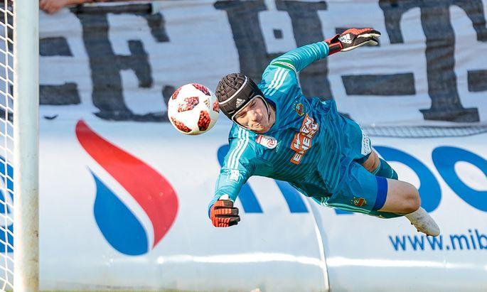 Torhüter Richard Strebinger ist der wohl beste Rapid-Spieler in dieser Saison und sicherte mit seinen Paraden auch die Qualifikation für die Europa League.