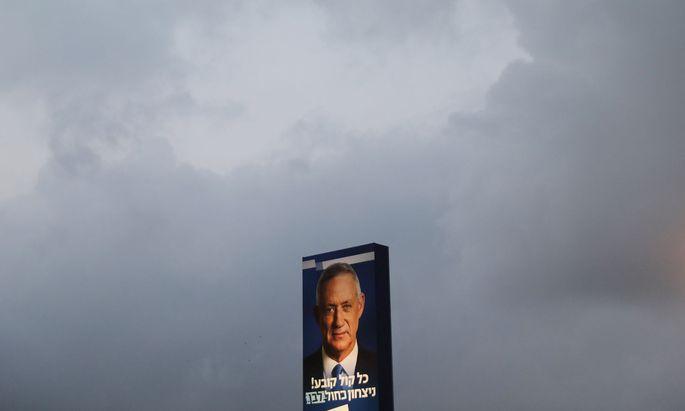 Benny Gantz könnte einen Wahlsieg erringen, der womöglich nicht für einem Regierungswechsel reichen könnte.