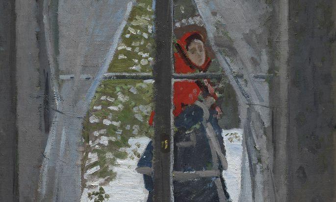 Ein kurzes Innehalten von Madame Monet – dann ist sie weg: Monet malte den Moment 1873.
