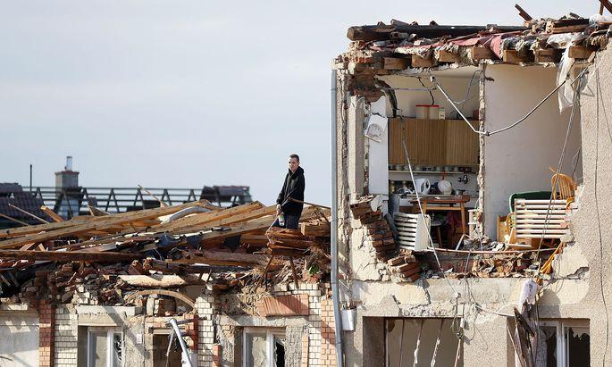 Aftermath of rare tornado in Czech Republic