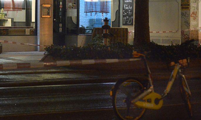 Der Tatort in der Praterstraße