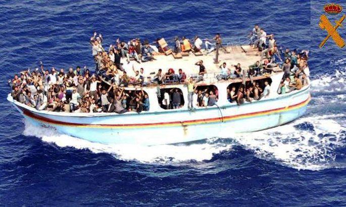 Ein Bild der spanischen Küstenwache.