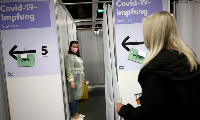 Mass vaccination centre in Vienna