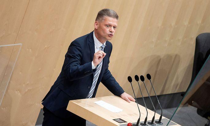 20210517 103. Parliamentary Session of the XXVII. Legislative Period - Special session VIENNA, AUSTRIA - MAY 17: Delegat