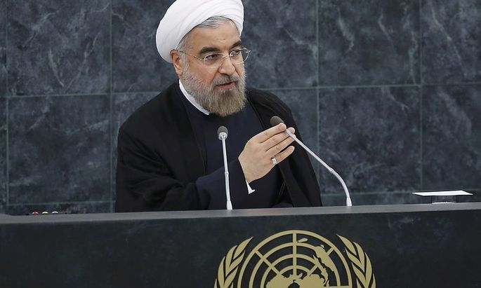 Iran's President Rouhani addresses the 68th United Nations General Assembly in New York