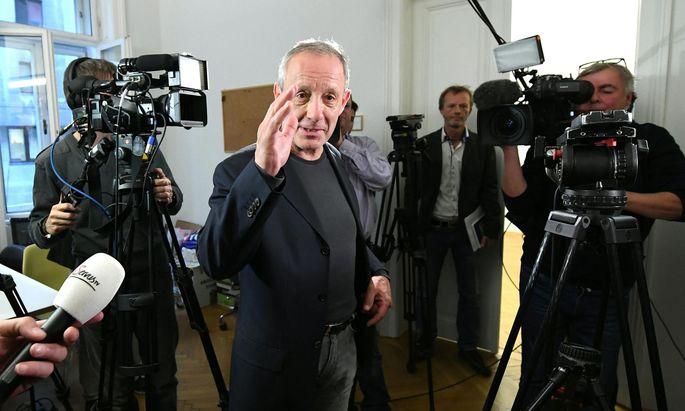 Peter Pilz am Montag bei einem Mediengespräch