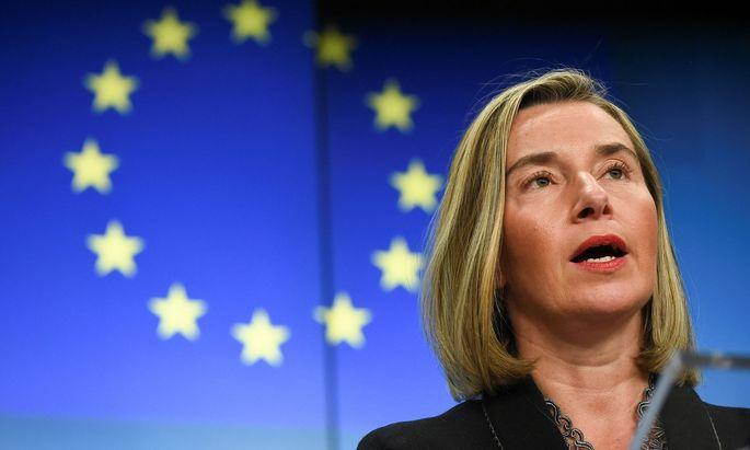 """""""Gesunde Demokratien brauchen offene, freie und faire öffentliche Debatten"""", sagt EU-Außenbeauftragte Federica Mogherini."""