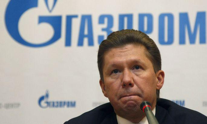 Der Chef des russischen Gaskonzerns Gazprom, Alexej Miller.