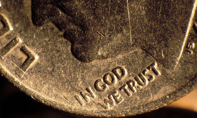Seit 1864 steht der Spruch auf US-Münzen.