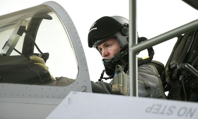 Pilot eines Eurofighters des österreichischen Bundesheeres