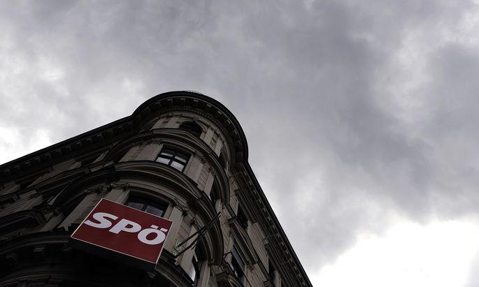 Dunkle Wolken über der SPÖ- Parteizentrale.