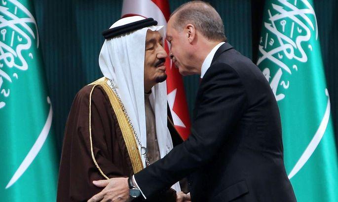 Der türkische Präsident Recep Tayyip Erdogan mit dem saudi-arabischen König Salman
