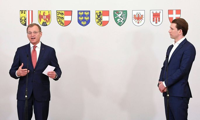 Oberösterreichs Landeschef Thomas Stelzer (ÖVP) und Kanzler Sebastian Kurz (ÖVP)