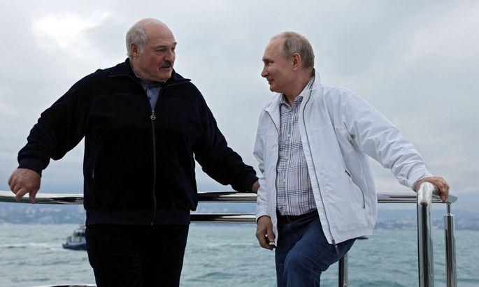 Alexander Lukaschenko und Wladimir Putin bei ihrem Treffen in Sotschi.