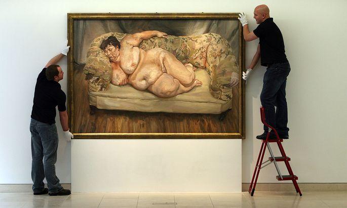 "Lucian Freud's Gemälde ""Benefits Supervisor Sleeping""."
