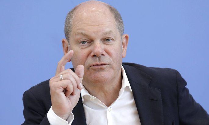 Olaf Scholz Bundesminister der Finanzen SPD PK im Rahmen der offenen Tuer der Bundespressekonfer