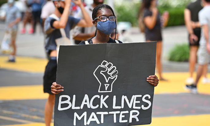 Demonstrantin in Washington am 5. Juni.