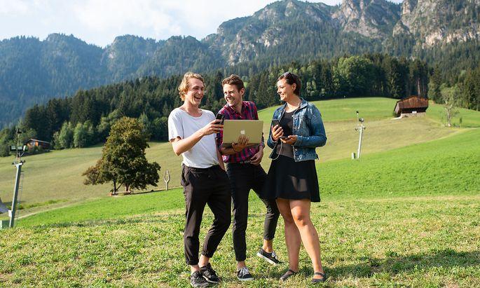 Das Social Media Team des Forum Alpbach