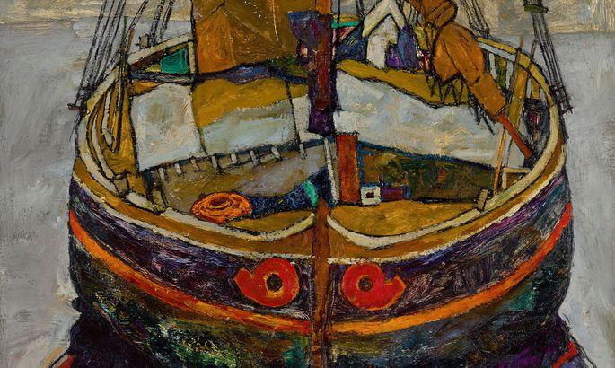 """Das Gemälde """"Triestiner Fischerboot"""" von Egon Schiele wird am 26. Februar bei Sotheby's in London versteigert und soll sechs bis acht Millionen Pfund bringen."""