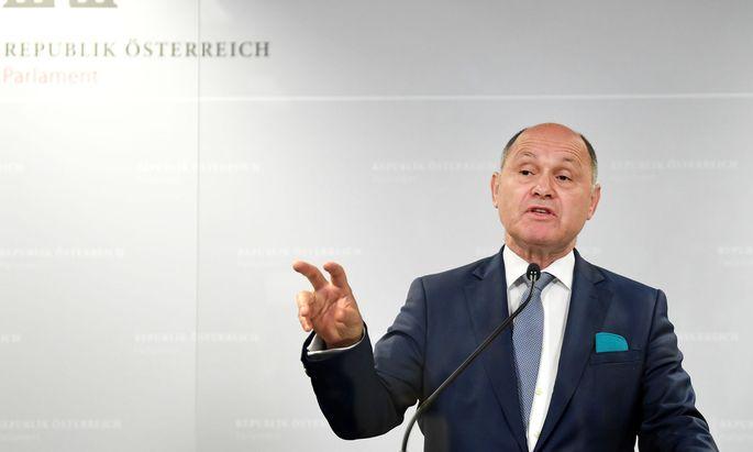 Der Vorsitzende des Ibiza-Untersuchungsausschusses Wolfgang Sobotka (ÖVP)