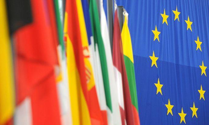 Fahnen der europaeischen Mitgliedsstaaten