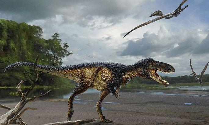 So könnte er ausgesehen haben, der Timurlengia euotica. Der T-Rex-Vorfahre war schlau, aber nicht größer als ein Pferd.