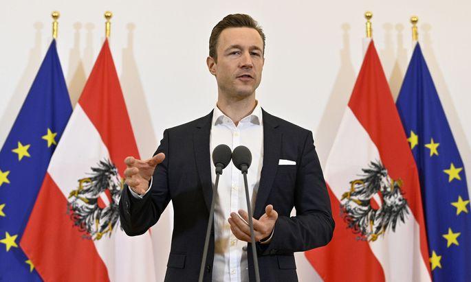 Minister Gernot Blümel (ÖVP).