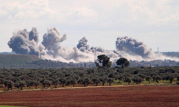 Angriff auf ein Dorf nahe Idlib am Wochenende