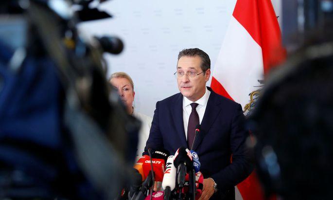 Heinz-Christian Strache bei seiner Rücktrittserklärung am 18. Mai 2019
