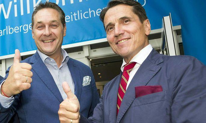 FPÖ-Bundesparteichef und Vizekanzler Heinz-Christian Strache sowie der FPÖ-Wehrsprecher Reinhard Bösch