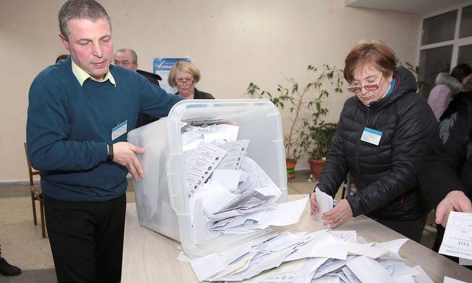 Eine Zählung der Stimmen in der Hauptstadt Chisinau.
