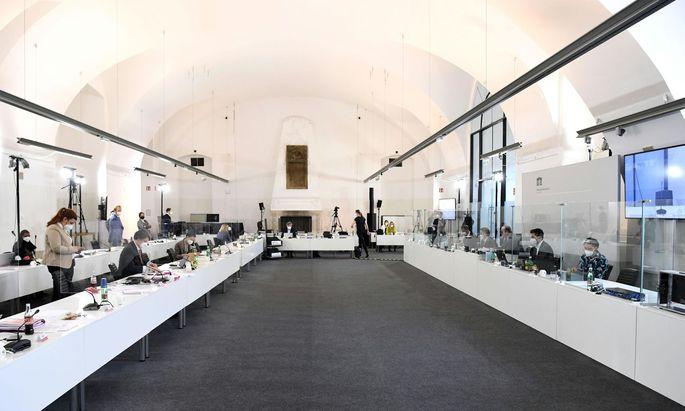 Der Sitzungssaal des U-Ausschusses im Camineum der Nationalbibliothek.