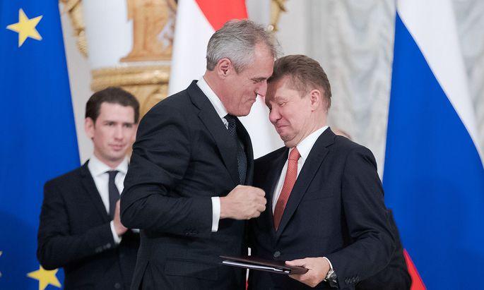 OMV-Chef Rainer Seele und Gazprom-Chef Alexei Miller haben einen neuen Plan.